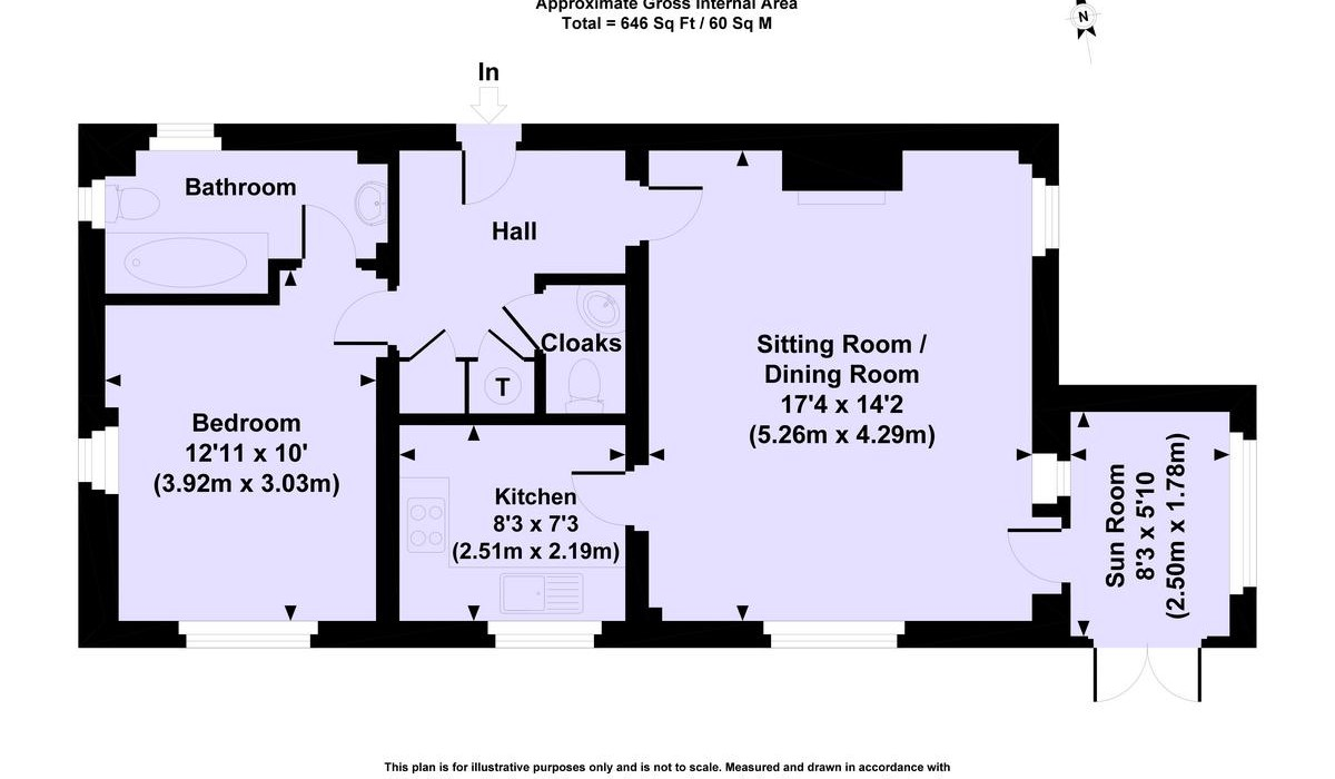 Floor plan appt 6 the mews sutton manor