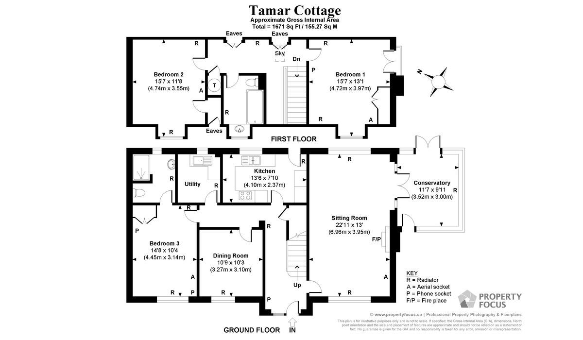 Tamar Cottage Floor Plan