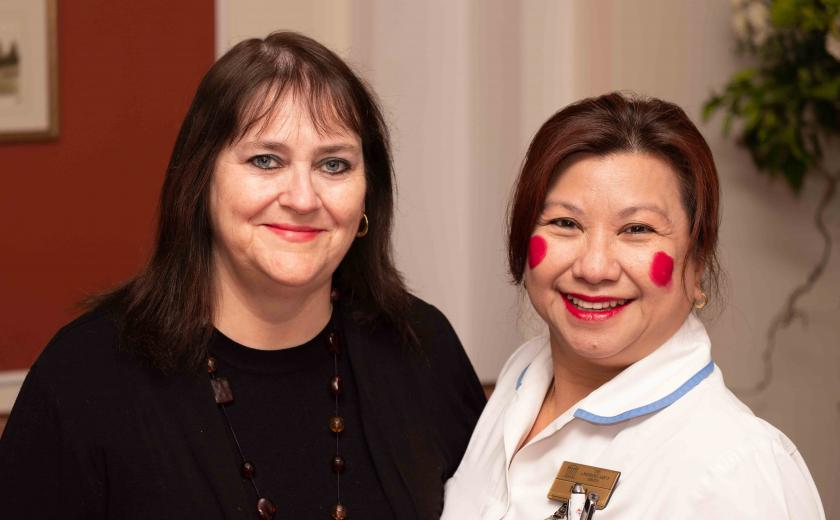 Winton House staff on red lippy day
