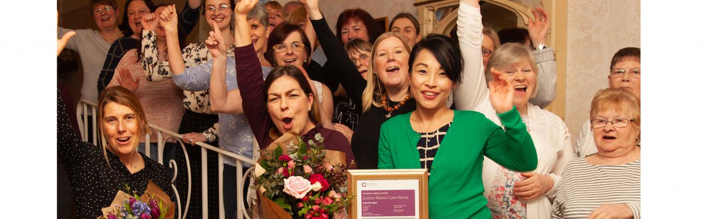Sutton Manor staff and CQC award